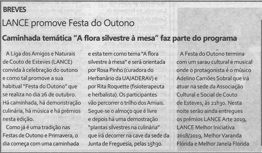 """TV-out.'19-p.14-LANCE promove Festa do Outono : caminhada temática """"A flora silvestre à mesa"""" faz parte do programa.jpg"""