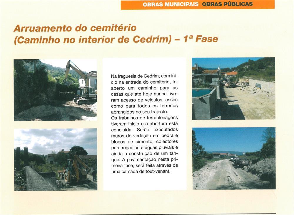 BoletimMunicipal-n.º 20-set.'06-p.11-Obras municipais : obras públicas : arruamento do cemitério : caminho no interior de Cedrim.jpg
