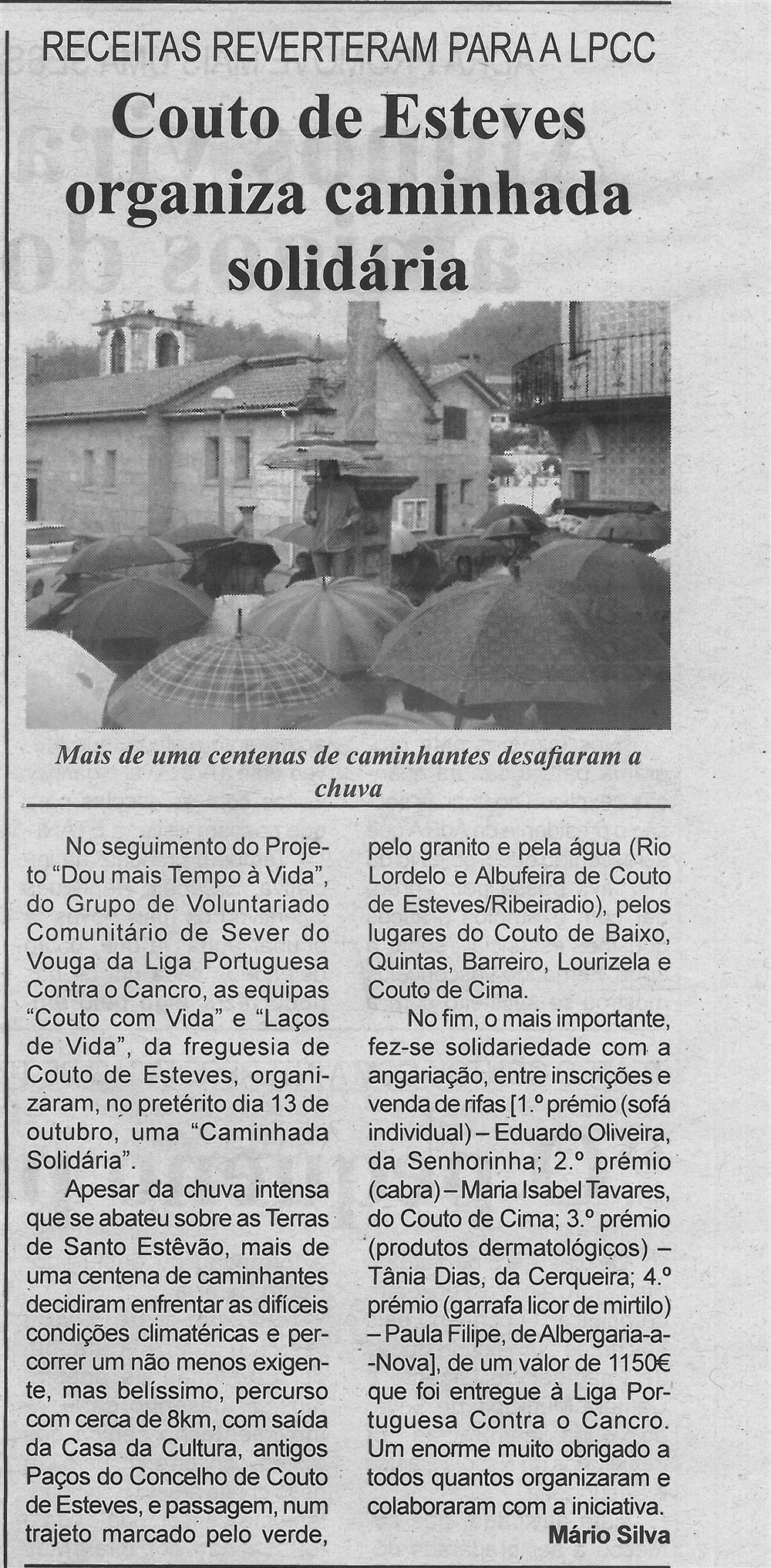 BV-1.ªnov.'19-p.5-Couto de Esteves organiza caminhada solidária : receitas reverteram para a LPCC.jpg