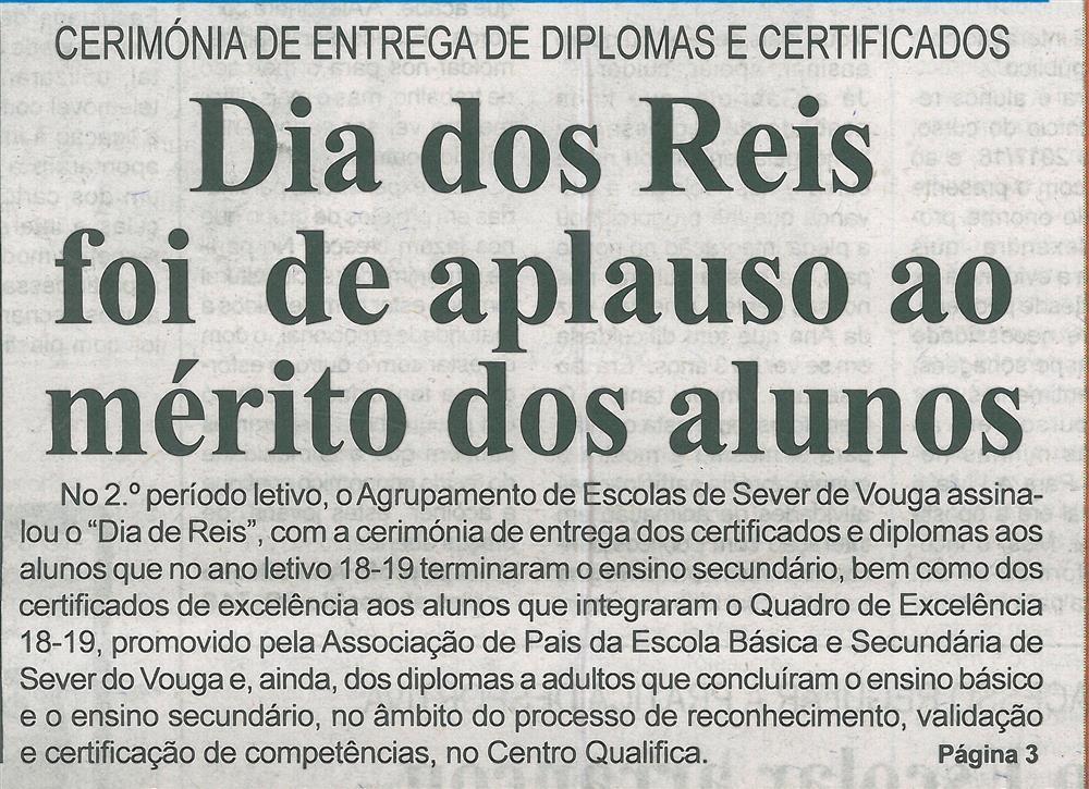 BV-2.ªjan.'20-p.1-Dia dos Reis foi de aplauso ao mérito dos alunos : cerimónia de entrega de diplomas certificados.jpg