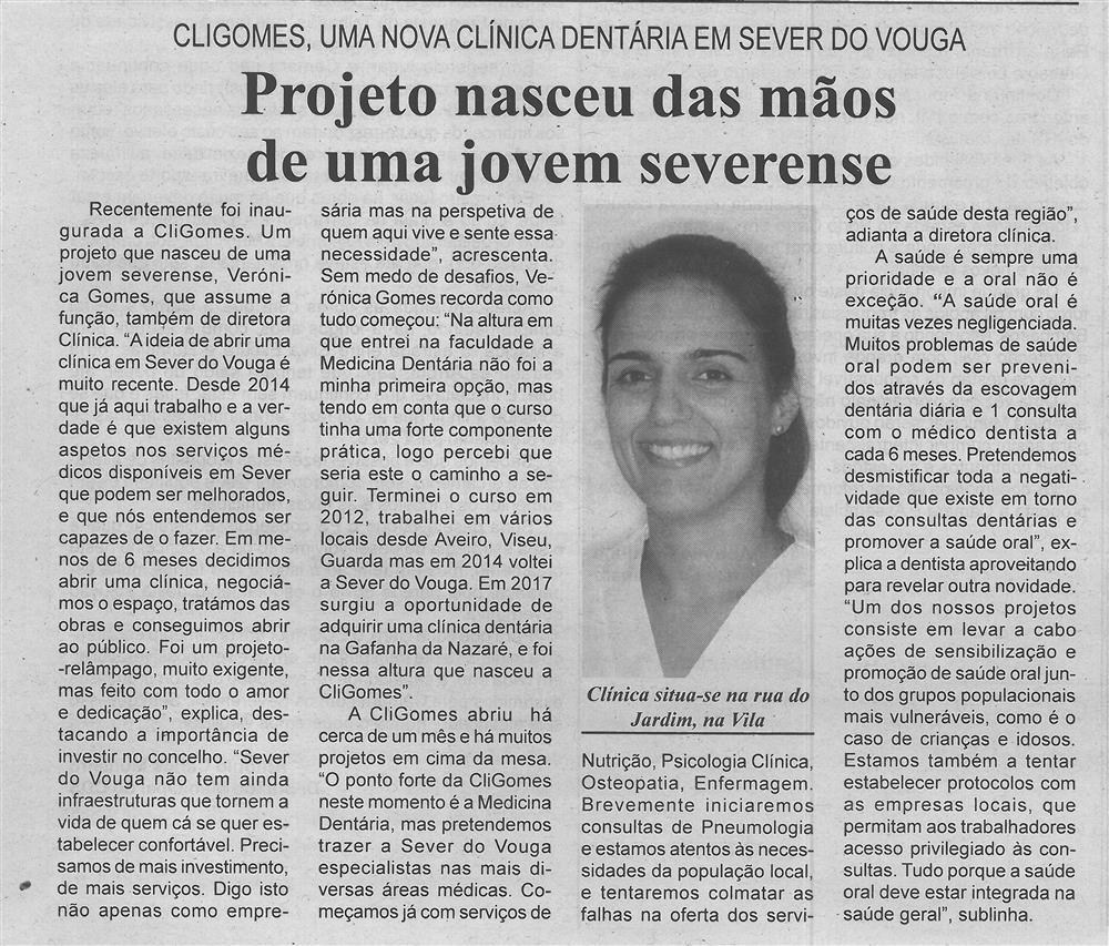 BV-2.ªjan.'20-p.6-Projeto nasceu das mãos de uma jovem severense : CliGomes, uma nova clínica dentária em Sever do Vouga.jpg