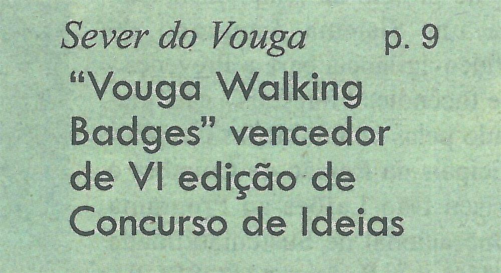 GB-30jan.'20-p.1- Sever do Vouga : 'Vouga Walking Badges' vencedor da VI edição de 'Concurso de Ideias'.jpg