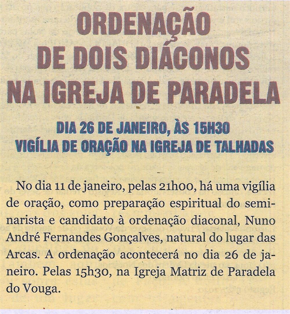 TV-jan.'20-p.20-Ordenação de dois Diáconos na Igreja de Paradela : vigília de oração na Igreja de Talhadas.jpg