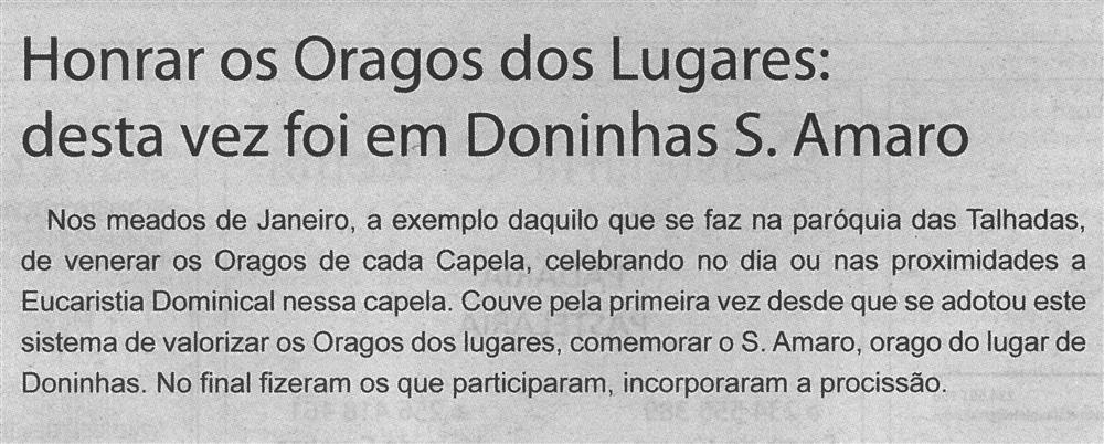 TV-fev.'20-p.14-Paróquias : honrar os oragos dos lugares : desta vez foi em Doninhas S. Amaro.jpg