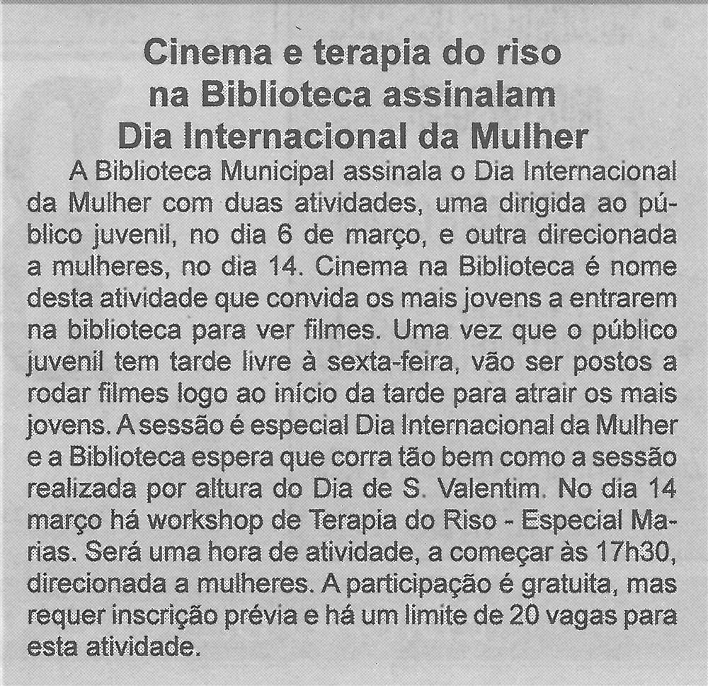 BV-1.ªmar.'20-p.2-Cinema e terapia do riso na Biblioteca assinalam Dia Internacional da Mulher.jpg