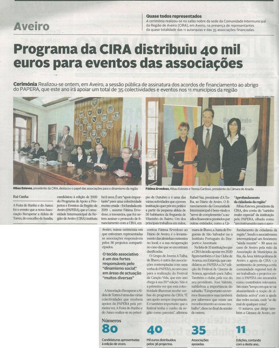 DA-01mar.'20,p.2-Programa da CIRA distribuiu 40 mil euros para eventos das associações.jpg