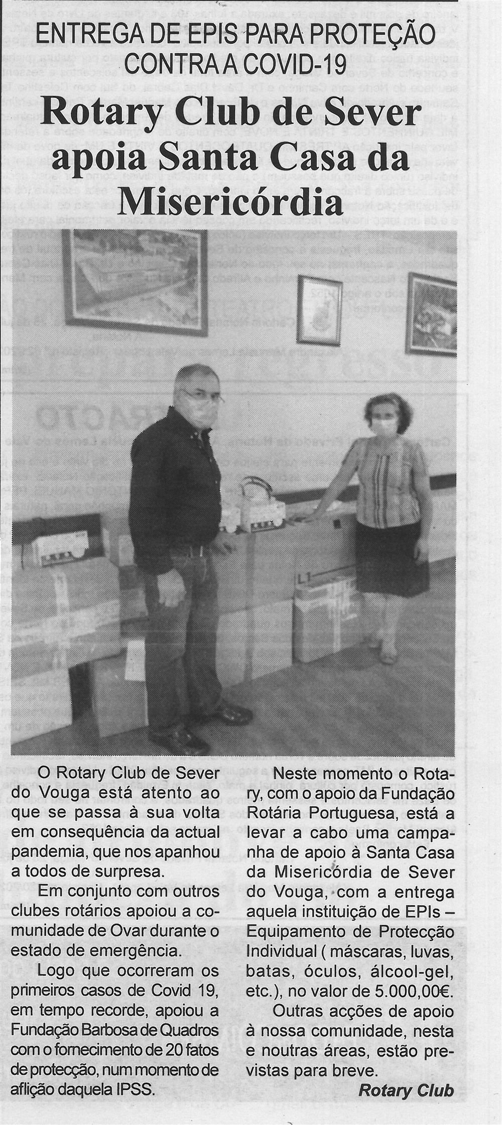 BV-2.ªago.'20-p.5-Rotary Club de Sever apoia Santa Casa da Misericórdia : entrega de EPIS para proteção contra a covid-19.jpg