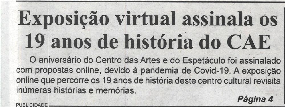 BV-2.ªdez.'20-p.1-Exposição virtual assinala os 19 anos de história do CAE.jpg