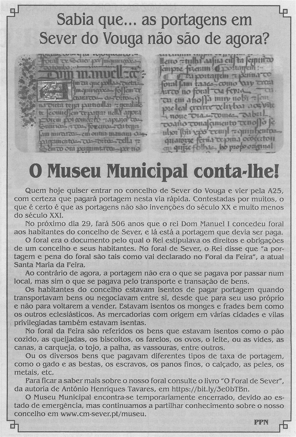 BV-2.ªabr.'20-p.6-O Museu Municipal conta-lhe - sabia que as portagens em Sever do Vouga não são de agora.jpg
