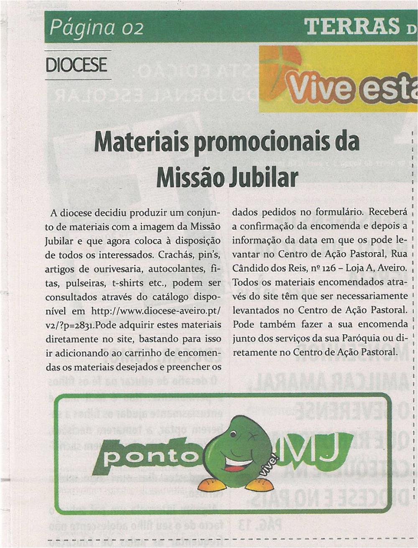 TV-jan13-p2-Materiais promocionais da Missão Jubilar