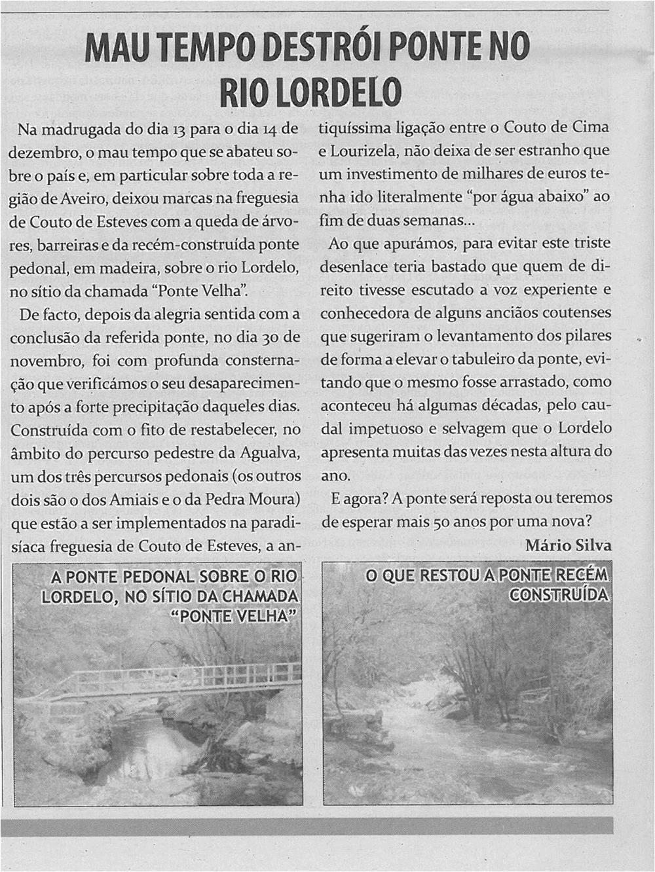 TV-jan13-p6-Mau tempo destrói ponte no Rio Lordelo