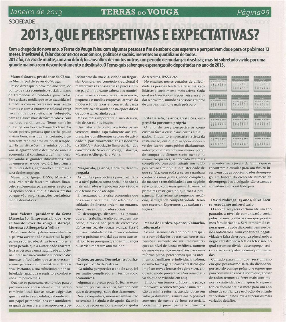 TV-jan13-p9-2013, que perspetivas e expectativas