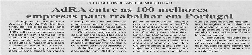 BV-2ªfev13-p3-AdRA entre as 100 melhores empresas para trabalhar em Portugal