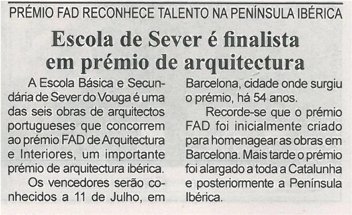 BV-1ªjun'13-p8-Escola de Sever é finalista em prémio de arquitectura