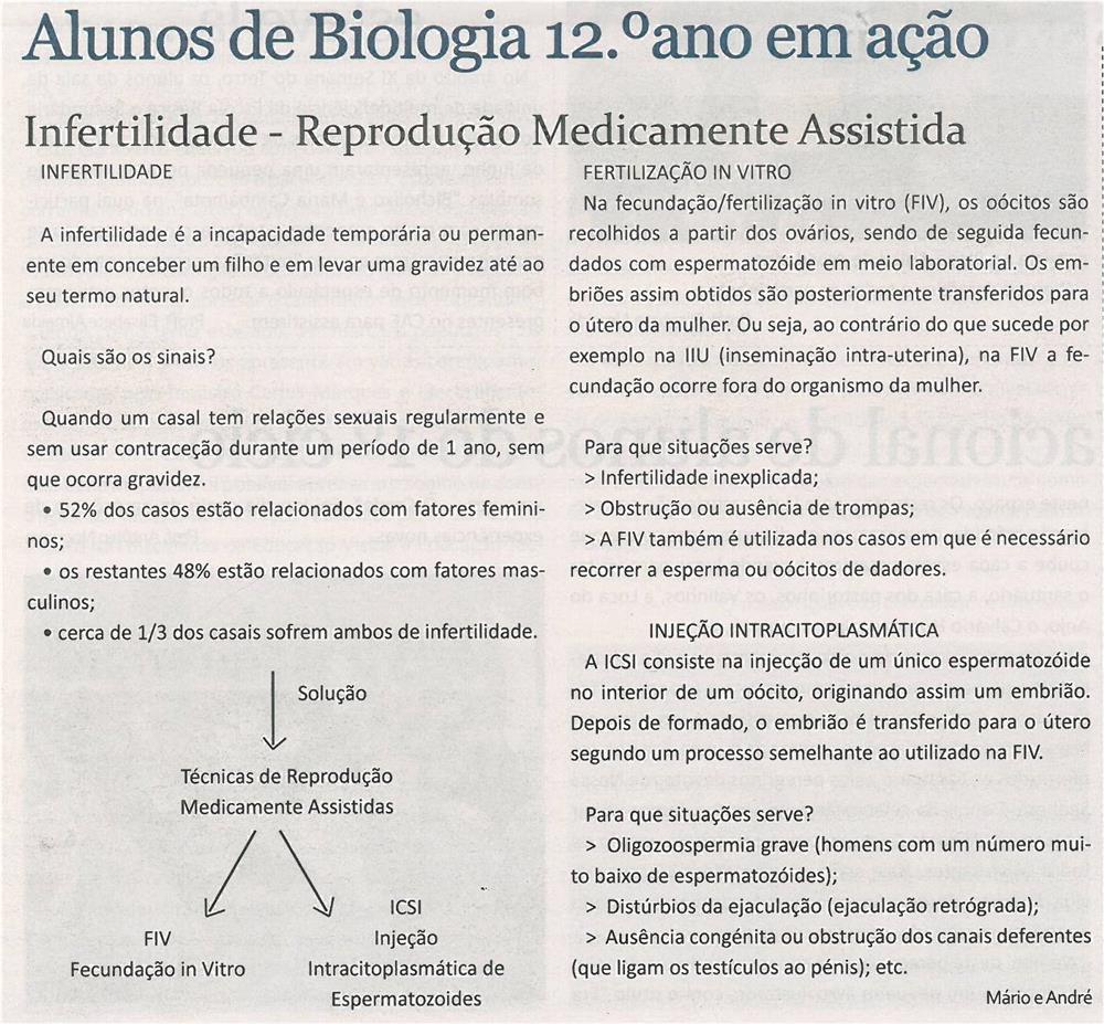 JE-jul13-p4-Alunos de biologia 12.º ano em ação_infertilidade