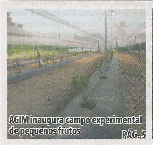 TV-set13-p1-AGIM inaugura campo experimental de pequenos frutos