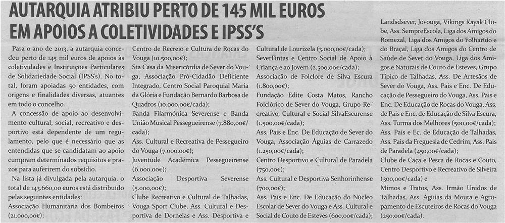 TV-set13-p5-Autarquia atribui perto de 145 mil euros em apoios a coletividades e IPSS's