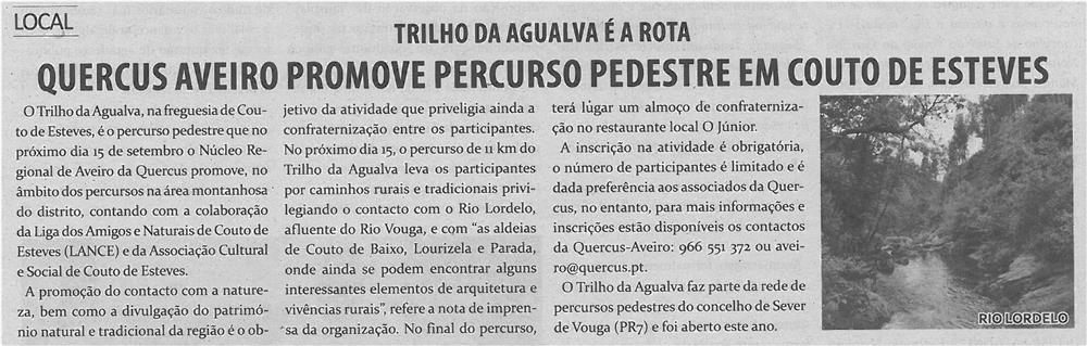 TV-set13-p10-Quercus Aveiro promove percurso pedestre em Couto de Esteves