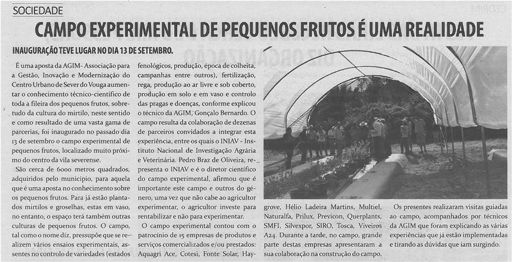 TV-out13-p5-Campo Experimental de Pequenos Frutos é uma realidade