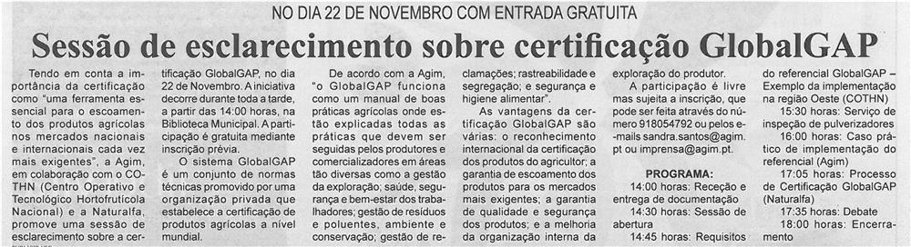 BV-2ªnov'13-p7-Sessão de esclarecimento sobre certificação GlobalGAP
