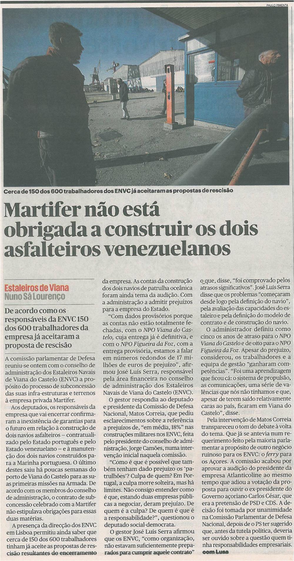 Público-8jan14-p9-Martifer não está obrigada a construir os dois asfalteiros venezuelanos