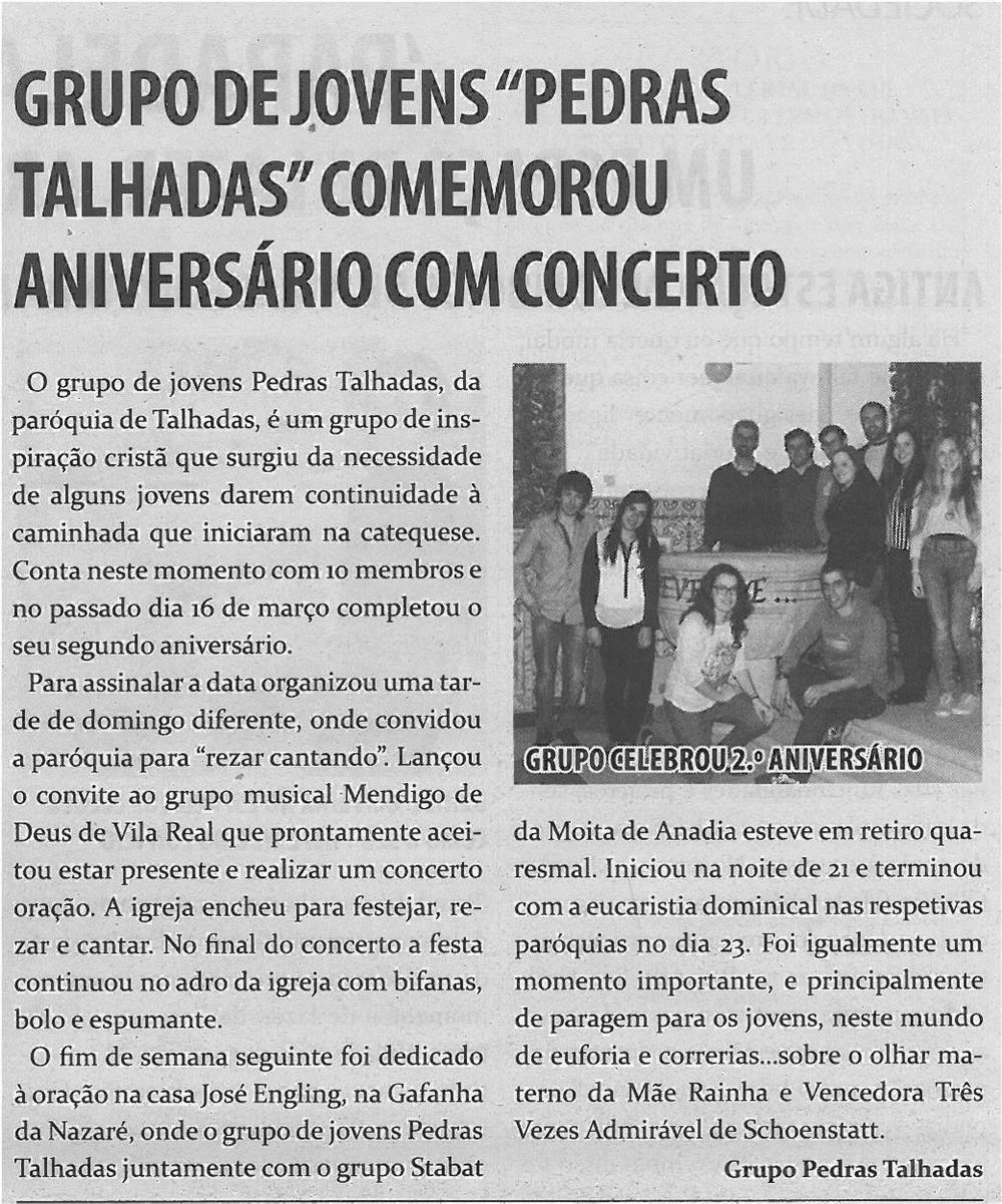 JPEG: TV-abr14-p6-Grupo de jovens Pedras Talhadas comemorou aniversário com concerto