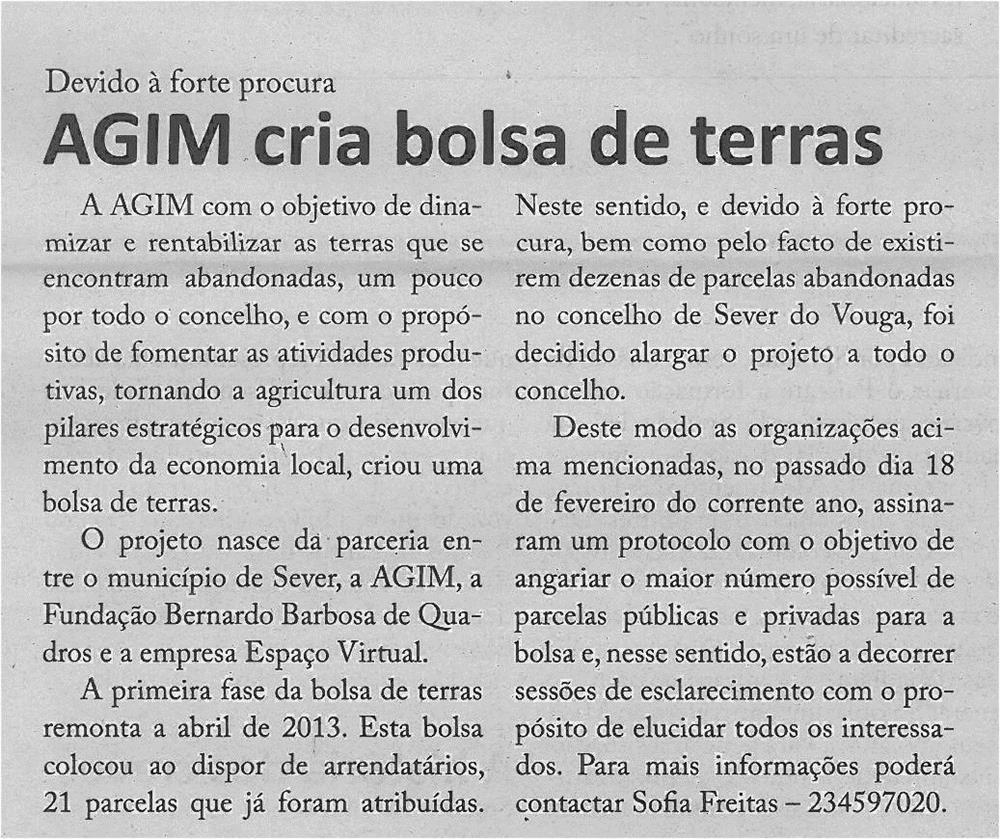 EV-maio'14-p4-AGIM cria bolsa de terras : devido à forte procura