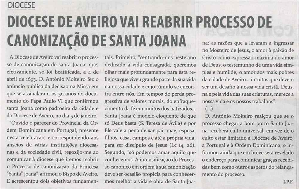 TV-fev.'15-p.16-Diocese de Aveiro vai reabrir processo de canonização de Santa Joana.jpg