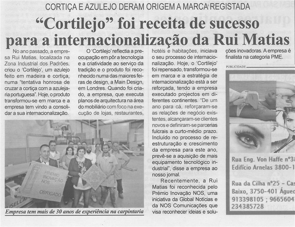 BV-2.ªmaio'15-p.5-Cortilejo foi receita de sucesso para a internacionalização da Rui Matias : cortiça e azulejo deram origem a marca registada.jpg