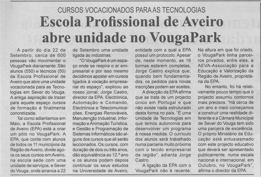 BV-2.ªset.'15-p.3-Escola Profissional de Aveiro abre unidade no VougaPark : cursos vocacionados para as tecnologias.jpg