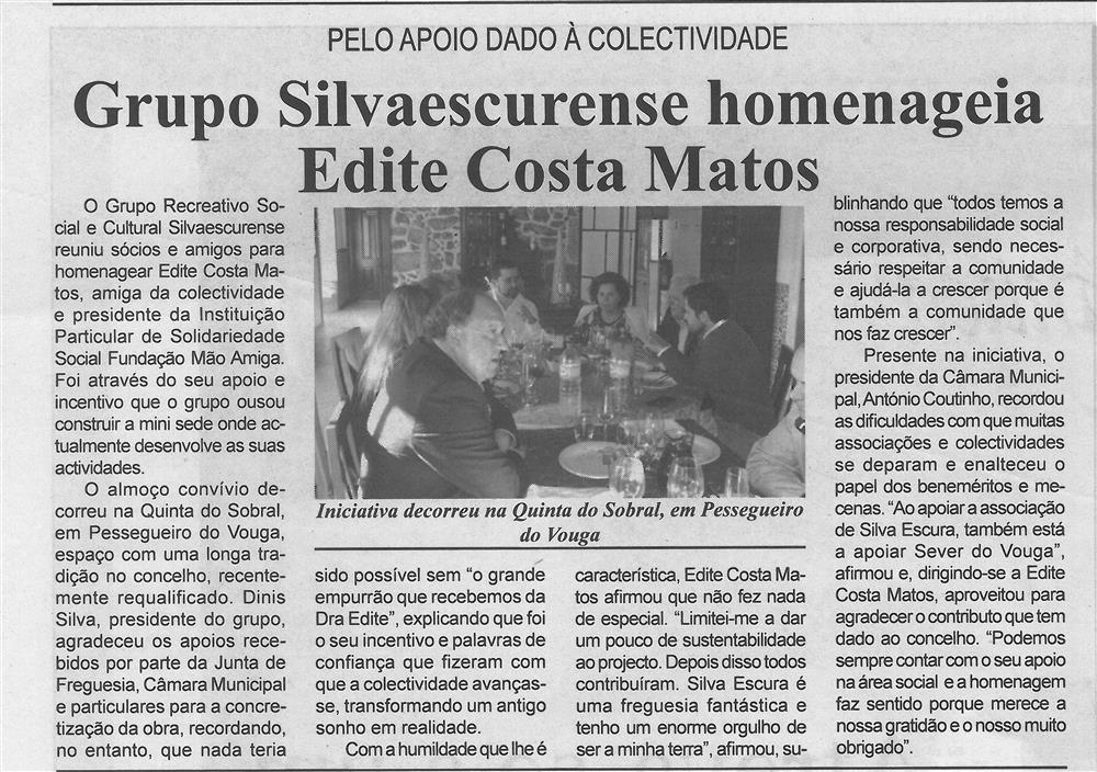 BV-2.ªdez.'15-p.8-Grupo Silvaescurense homenageia Edite Costa Matos : pelo apoio dado à colectividade : iniciativa decorreu na Quinta do Sobral em Pessegueiro do Vouga.jpg