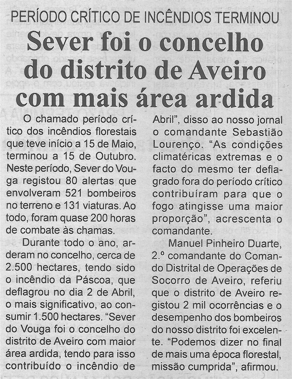 BV-1.ªnov.'15-p.6 - Sever foi o concelho do distrito de Aveiro com mais área ardida : período crítico de incêndios terminou.jpg