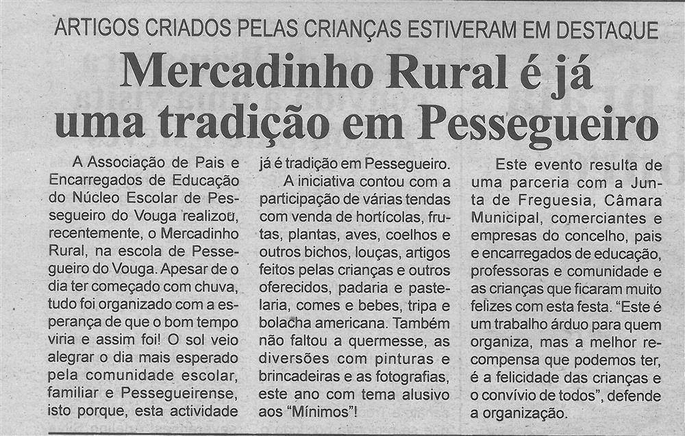 BV-1.ªjun.'16-p.6-Mercadinho Rural é já uma tradição em Pessegueiro : artigos criados pelas crianças estiveram em destaque.jpg