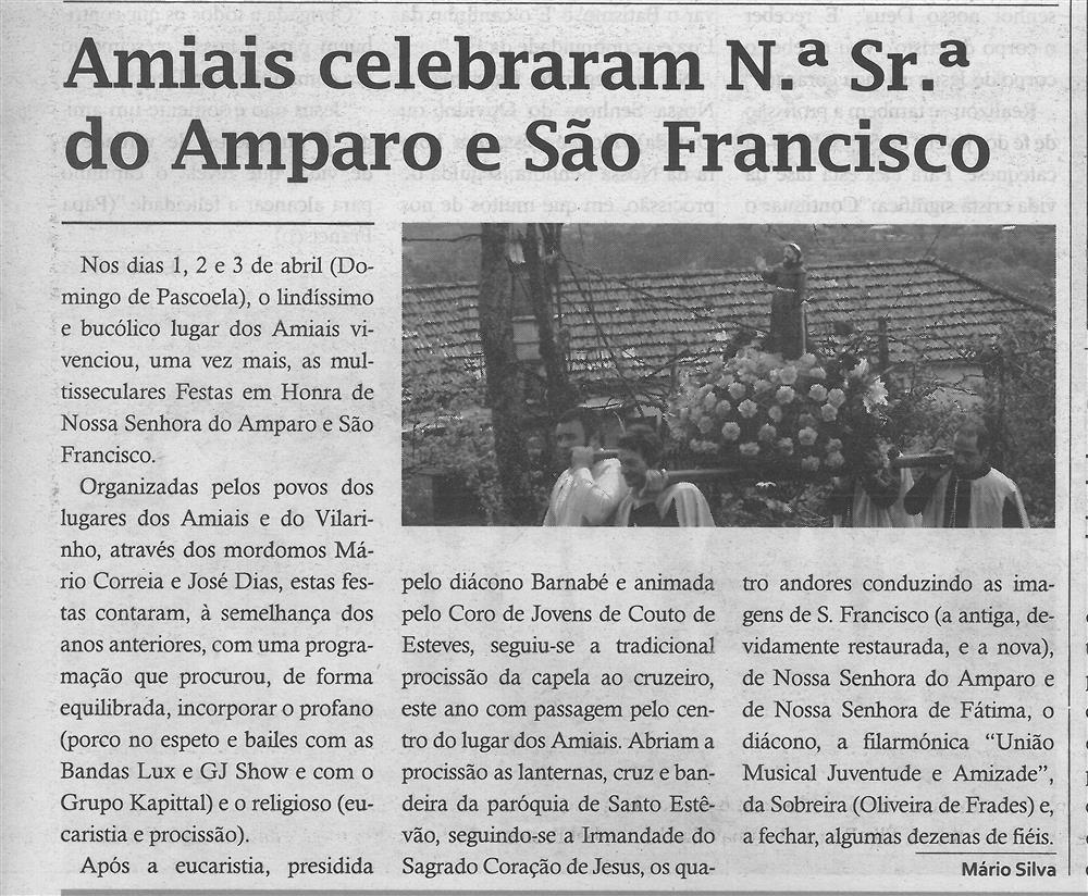 TV-jun.'16-p.11-Amiais celebraram N.ª Sr.ª do Amparo e São Francisco.jpg
