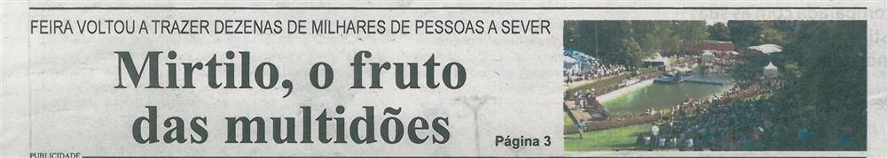 BV-1.ªjul.'16-p.1-Mirtilo, o fruto das multidões : Feira voltou a trazer dezenas de milhares de pessoas a Sever.jpg