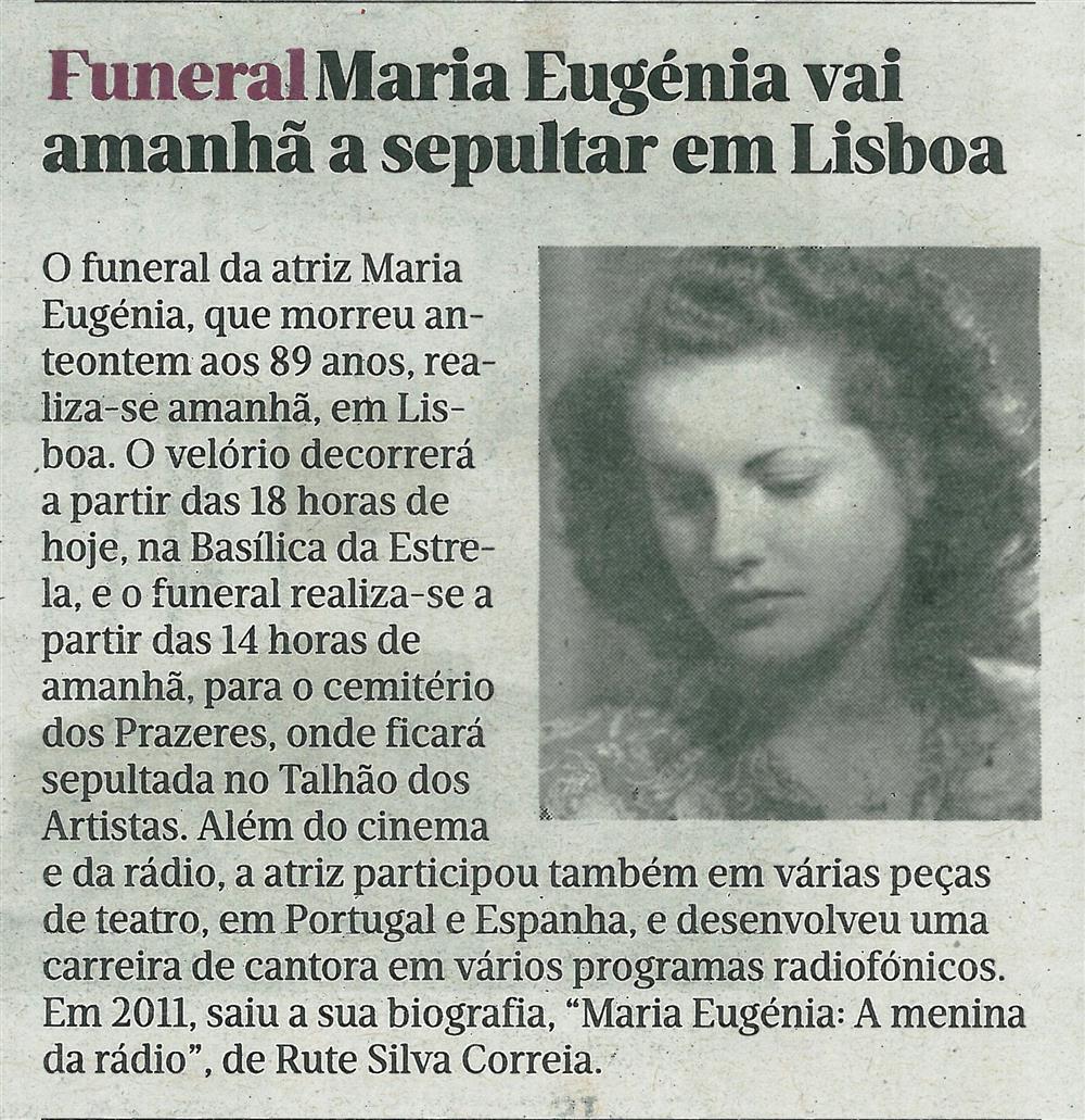 JN-27ago.'16-p.34-Funeral : Maria Eugénia vai amanhã a sepultar em Lisboa.jpg