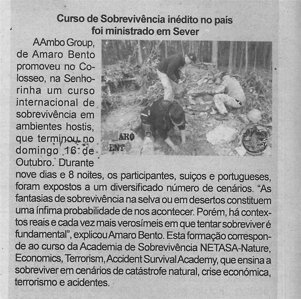 BV-2.ªout.'16-p.6-Curso de Sobrevivência inédito no país foi ministrado em Sever.jpg