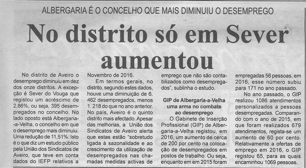 BV-1.ªfev.'17-p.7-No distrito só em Sever aumentou : Albergaria é o concelho que mais diminuiu o desemprego.jpg