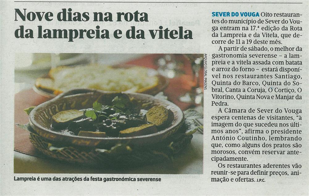 JN-07mar.'17-p.27-Nove dias na rota da lampreia e da vitela : lampreia é uma das atrações da festa gastronómica severense.jpg