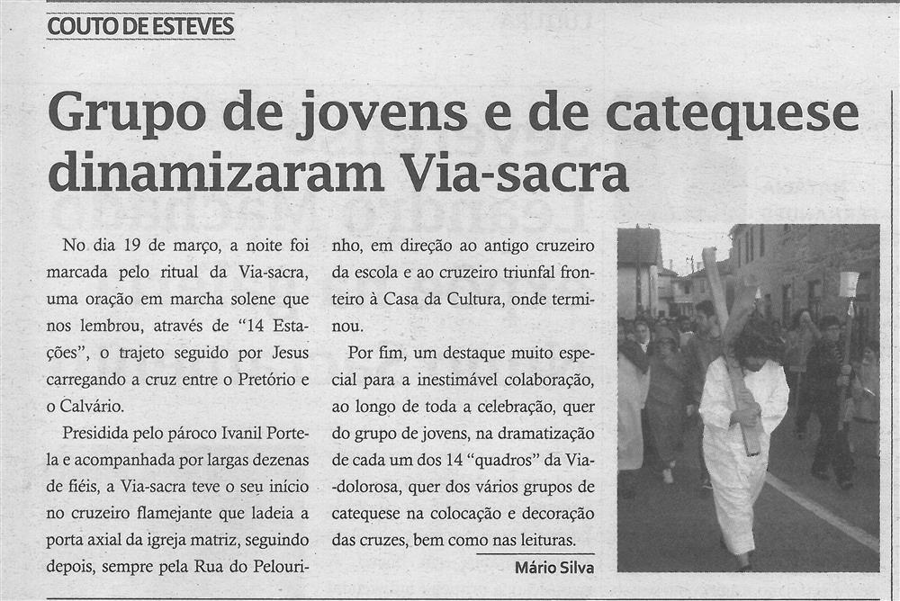 TV-abr.'17-p.13-Grupo de jovens e de catequese dinamizaram Via Sacra : Couto de esteves.jpg