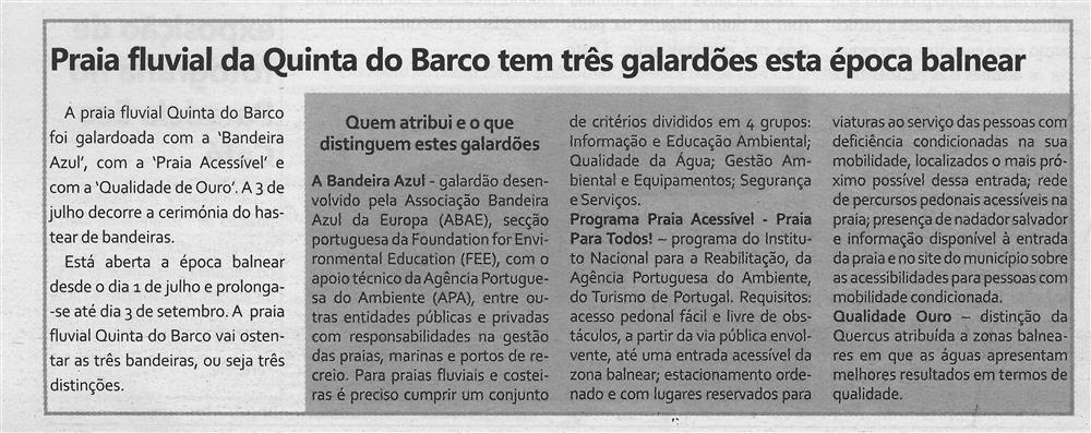 TV-jul.'17-p.8-Praia Fluvial da Quinta do Barco tem três galardões esta época balnear.jpg