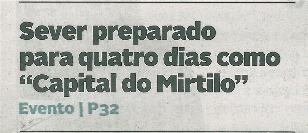 DA-28jun.'18-p.1-Sever preparado para quatro dias como Capital do Mirtilo.jpg