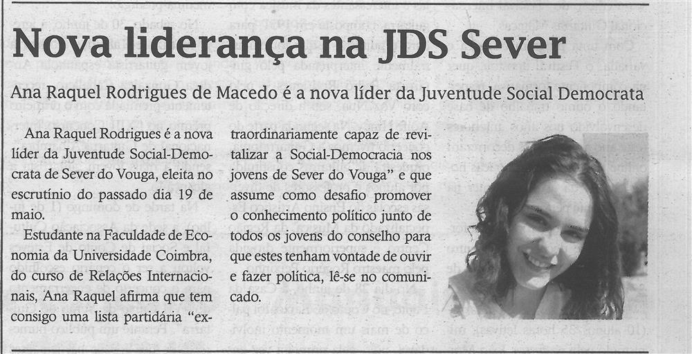 TV-jul.'18-p.11-Nova liderança na JSD Sever : Ana Raquel Rodrigues de Macedo é a nova líder da Juventude Social Democrata.jpg