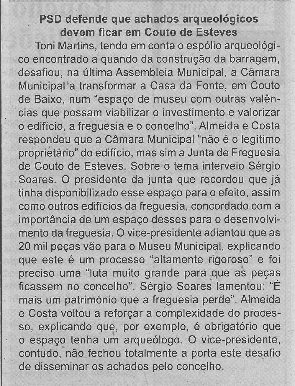 BV-2.ªjul.'18-p.3-PSD defende que achados arqueológicos devem ficar em Couto de Esteves.jpg