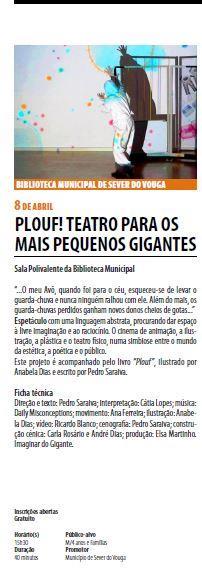 AgendaRBM-abr.'17-p.6-Biblioteca Municipal de Sever do Vouga : Plouf : teatro para os gigantes mais pequenos.JPG