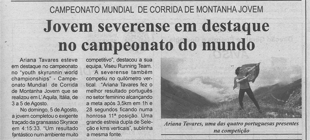 BV-1.ªago.'18-p.5-Jovem severense em destaque no campeonato do mundo : campeonato mundial de corrida de montanha jovem.jpg