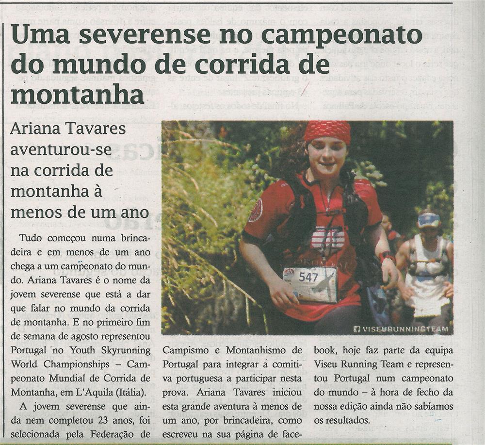TV-ago.'18-p.12-Uma severense no Campeonato do Mundo de Corrida de Montanha : Ariana Tavares aventurou-se na corrida de montanha à menos de um ano.jpg