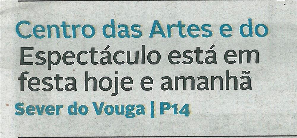 DA-16nov.'18-p.1-Centro das Artes e do Espetáculo está em festa hoje e amanhã.jpg