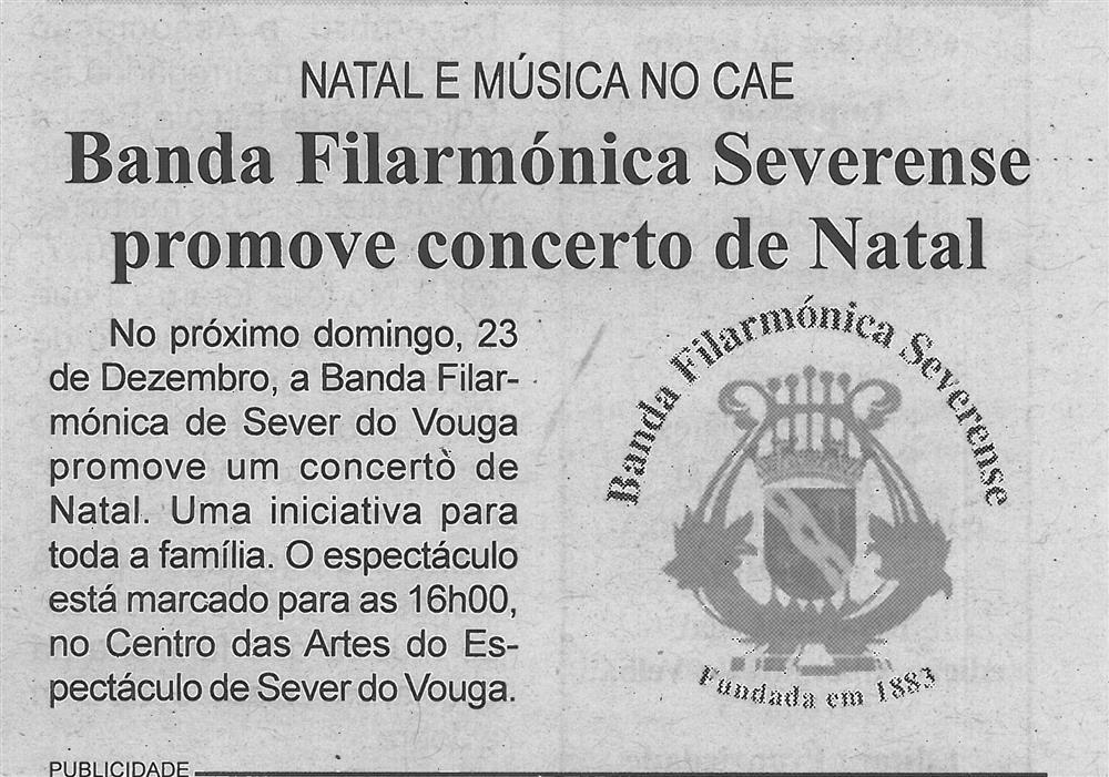 BV-2.ªdez.'18-p.3-Banda Filarmónica Severense promove concerto de Natal : Natal e música no CAE.jpg