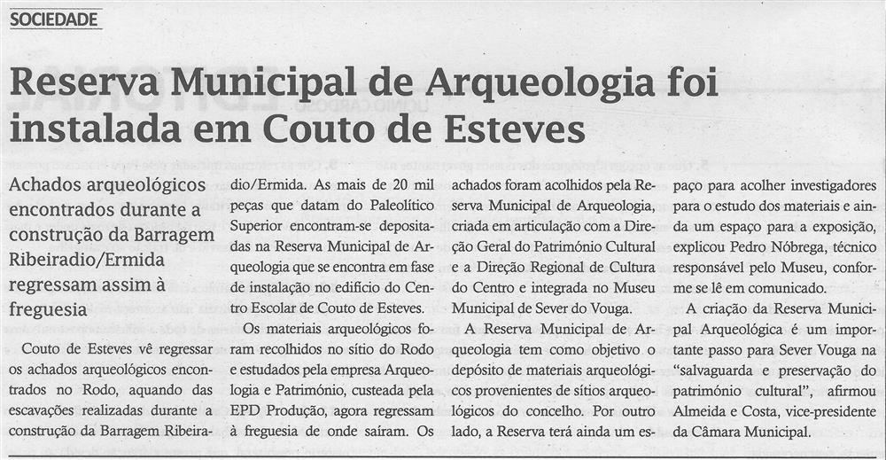 Reserva Municipal de arqueologia foi instalada em Couto de Esteves.jpg
